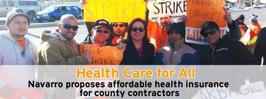 Councilmember Navarro proposes health insurance for county contractors